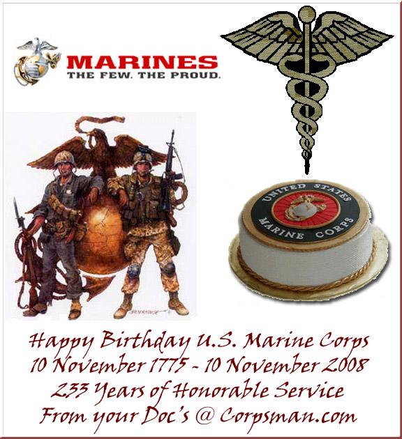 Happy Birthday USMC!! : Corpsman.com