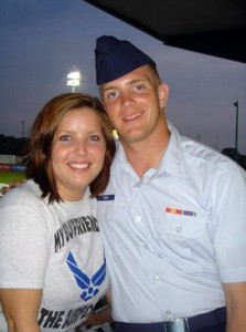Airman First Class  Colton Read with his wife, Jessica.
