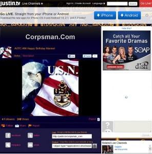Attack of Da-Chief on Justin.tv http://justin.tv/corpsman_com