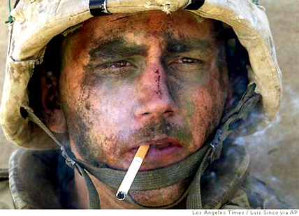 James Blake Miller, USMC who was discharged with PTSD.