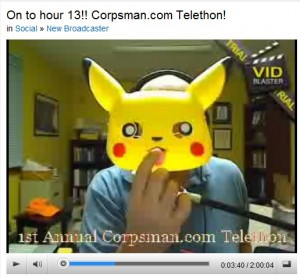 Hour 13 of Corpsman.com Telethon