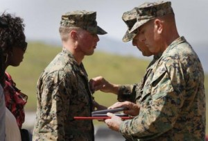 "Navy Corpsman Peter Gould was awarded a Silver Star on Friday at Camp Pendleton, Calif. Lt. Col. Fridrik Fridriksson said, ""These corpsmen do everything to take care of us — and they don't ask anything in return."""